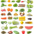 Fruit and vegetable isolated on white background — Stock Photo #49293401