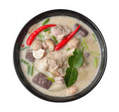 Thaifood spicy chicken curry in coconut milk — Stock Photo