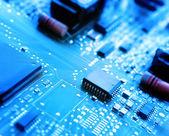 Microchips op een printplaat — Stockfoto