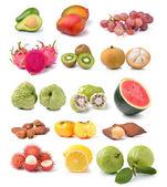 сбор фруктов, изолированные на белом фоне — Стоковое фото