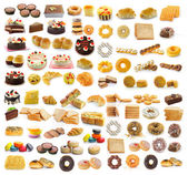Thailand dessert, bread, cake, donuts, croissants, breadsausages — Stock Photo