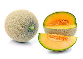 Cantaloupe melon isolated on white background — Stock Photo