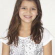 Stock Photo: Portrait of AmericIndiPreteen Girl