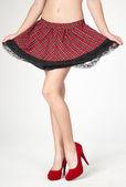 Skirt and High Heels — Stock Photo