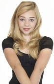 Pretty Blond Teen Girl Portrait — Stock Photo