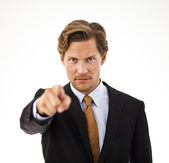 Young Businessman Pointing at the Camera — Stock Photo
