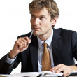 Thoughtfull businessman — Stock Photo