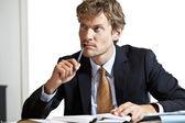 Thoughtfull businessman — Stock Photo