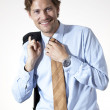 Stock Photo: Smiling businessman casual looking