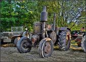 Hdr vecchio bulldog di lanc trattore — Foto Stock