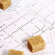 Cardiovascular disease in diabetics — Stock Photo