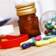 Stock Photo: Various drugs for various conditions
