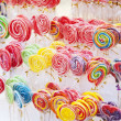 Sweet and colorful lollipops — Stock Photo
