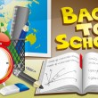 Vector de stock : Illustration of back to school.