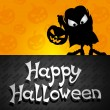 Happy Halloween illustration. — Stock Vector
