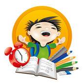 Vector school illustration. — Stock Vector