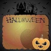 Vector illustration. Halloween background. — Stock Vector