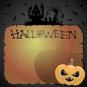 Vectorillustratie. halloween achtergrond. — Stockvector