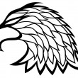 Eagle head on white. — Stock Vector