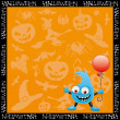 Halloween background. Monster. — Stock Vector