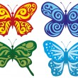 Vector. Butterflies collection. — Stock Vector