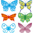 Vector. Butterflies collection — Stock Vector #30334991