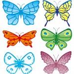 Vector. Butterflies collection — Stock Vector