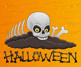 Cadılar bayramı illüstrasyon. kafatası. — Stok Vektör