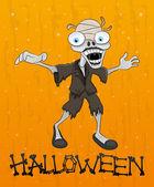 Cadılar bayramı illüstrasyon. zombi. — Stok Vektör