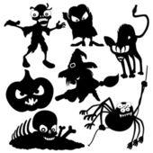 Vector silhouetten. Halloween. — Stockvector