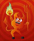 Vektor-Illustration. Teufel. — Stockvektor