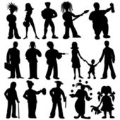 Peoples isolated on white. — Stock Vector