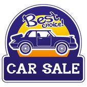 Vector de señal. venta de coche. — Vector de stock