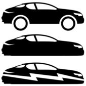 Car icons on white. — Stock Vector