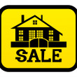 Vector sign. Sale house.   — Imagen vectorial