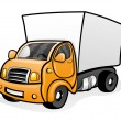 Truck isolated on white — Stock Vector