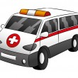 Ambulance car on white. — Stock Vector