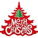 Merry Christmas icon on white. — Stock Vector #30358077