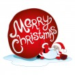 Merry Christmas icon on white. — Stock Vector #30358095
