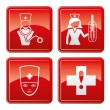 Medical red icons. — Stock Vector #30358825