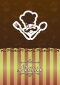 Ilustrace menu pro restaurace, kavárny. — Stock vektor