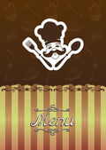 Ilustración de menú para el restaurante, cafetería. — Vector de stock