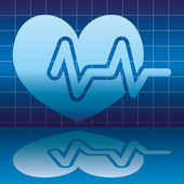 Medical icon. Heart beat. — Stock Vector