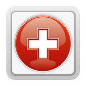 Medicinsk röd ikon. — Stockvektor