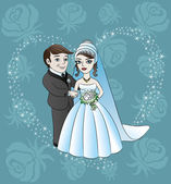 Vector illustration. Wedding. — Stock Vector