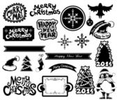 Elementos de design de natal — Vetor de Stock