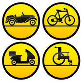 Transportation icons on white. — Stock Vector