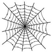 Cobweb on white background. — Stock Vector