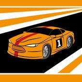 ベクトル イラスト。レースカー. — ストックベクタ