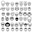 Постер, плакат: Faces Icon set